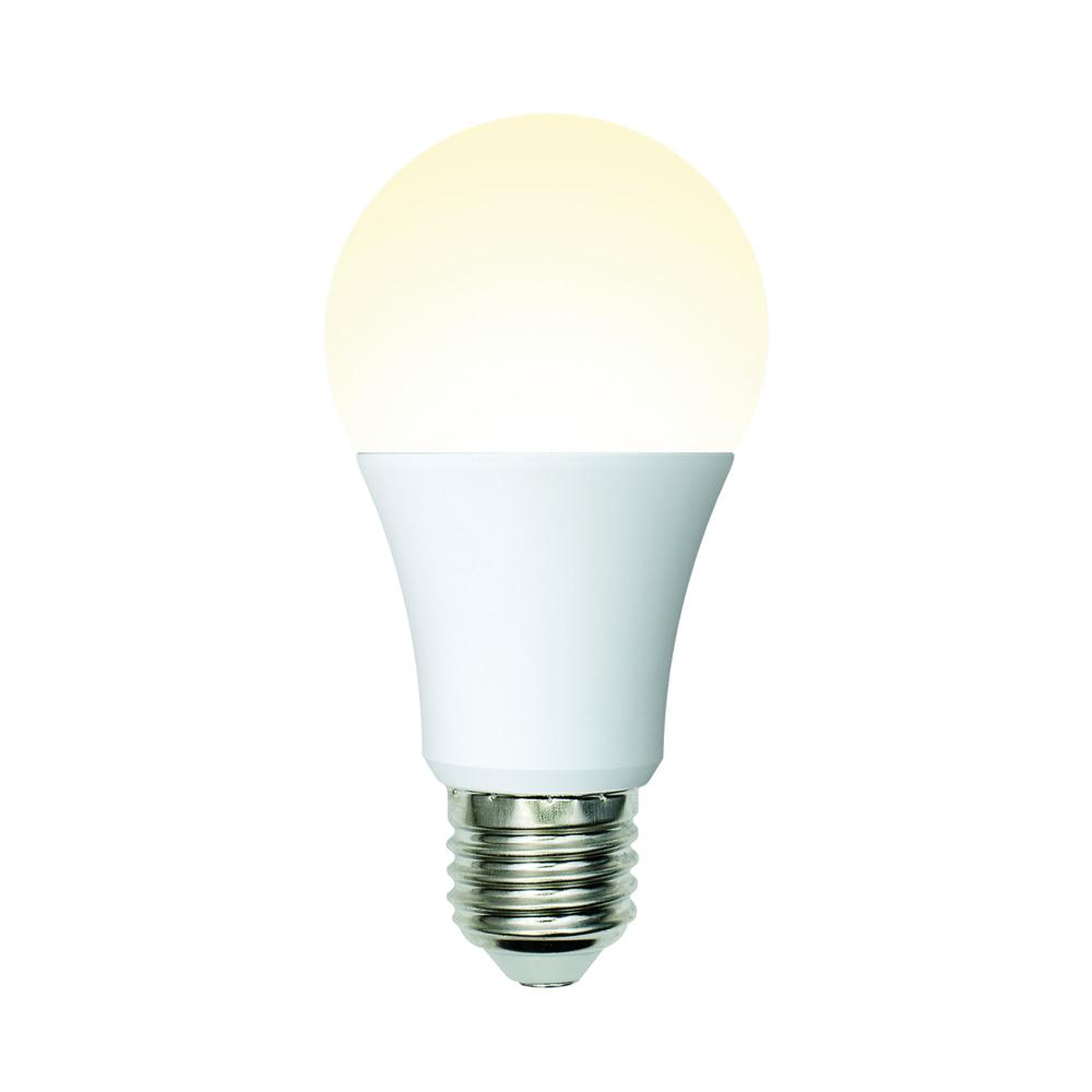 Светодиодная лампа uniel led-a60-10w/ww/e27/fr/mb plm11wh форма а, матовая ul-00002371
