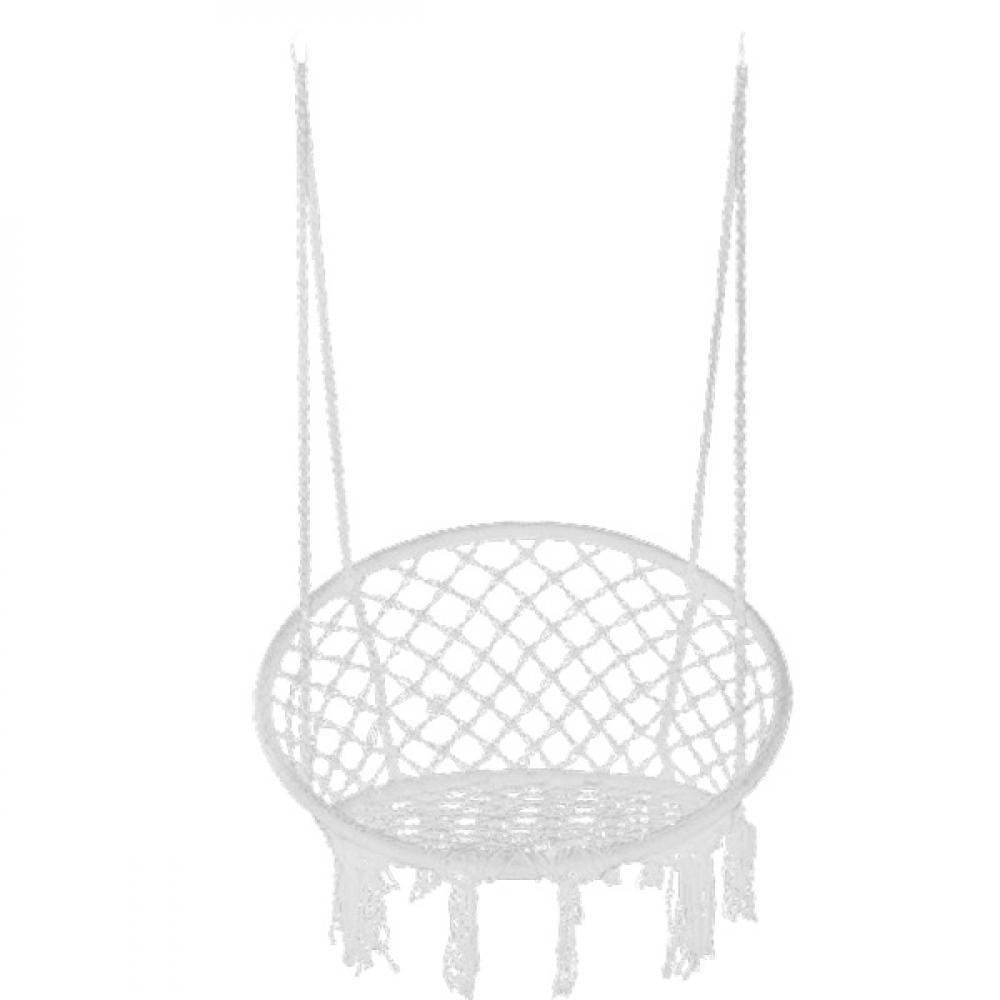 Купить Качели чудесный сад кресло-макраме 008.5 белое, ?80xh118см, максимальная нагрузка 150кг 4606400031420