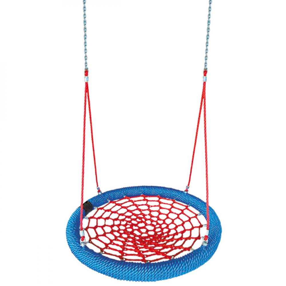 Купить Качели 035.5 чудесный сад корзинка-паутинка красно-синие, диаметр 100см, максимальная нагрузка 150кг 4606400031413