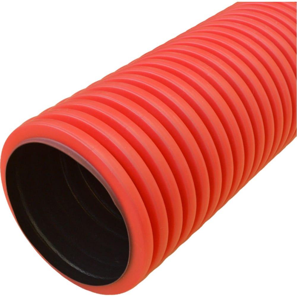 Купить Гофрированная двустенная труба промрукав пнд жесткая тип 450 sn6 красная д200 6м pr15.0186