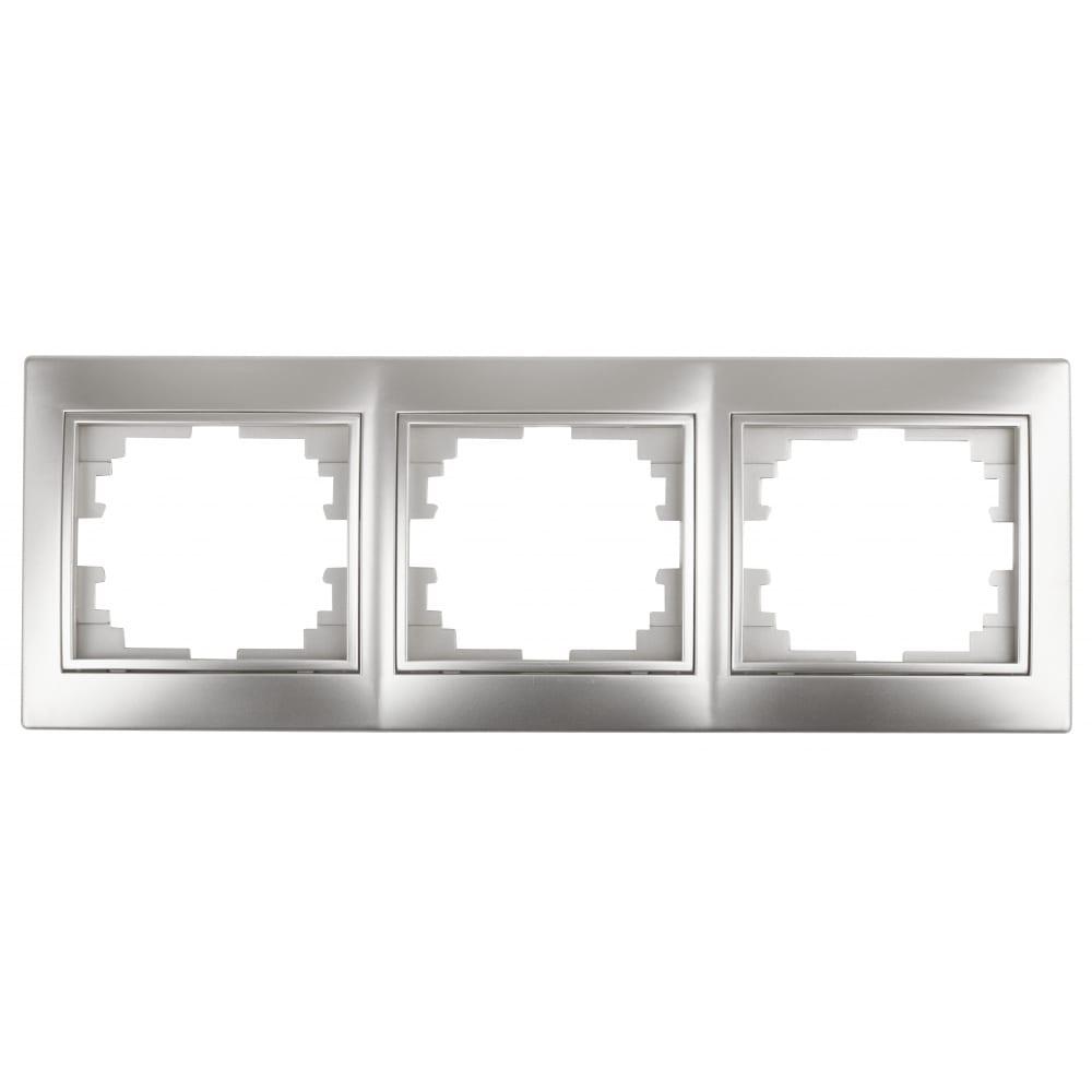 Купить Горизонтальная рамка intro 150303 на 3 поста, су, plano, алюминий б0030098
