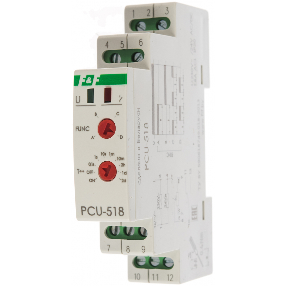 Купить Реле времени f&f pcu-518, выносной регулятор времени ea02.001.024