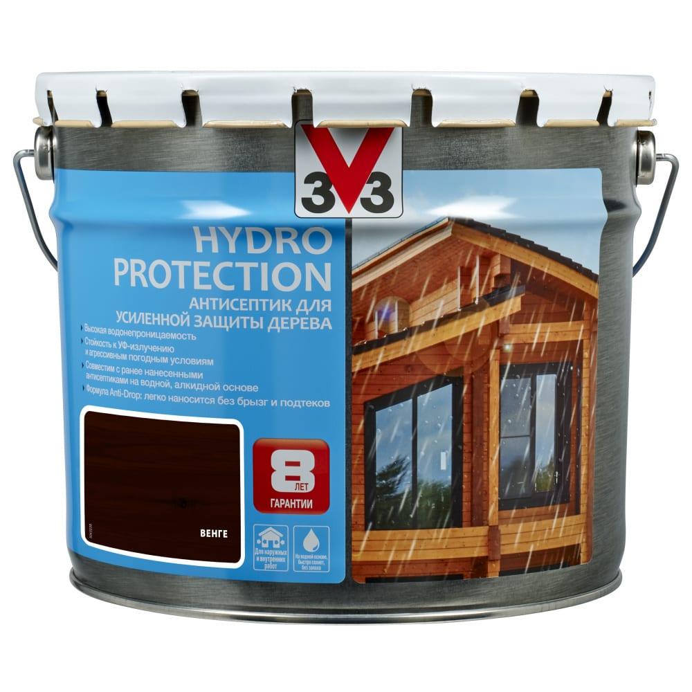 Купить Акриловый антисептик для дерева v33 hydro protection полуглянец, венге 117421