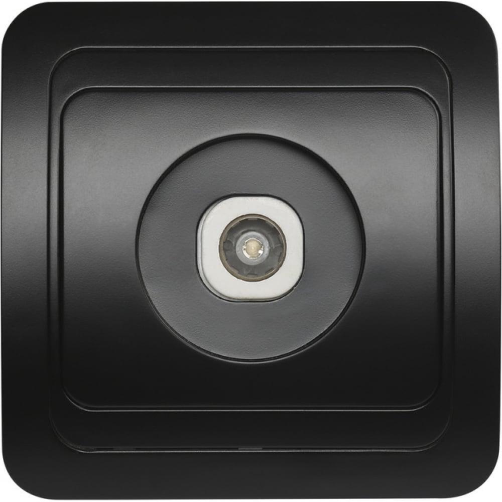 Купить Телевизионная розетка smartbuy 1-местная черная 75ом 5-862мгц марс sbe-02b-s1-tv