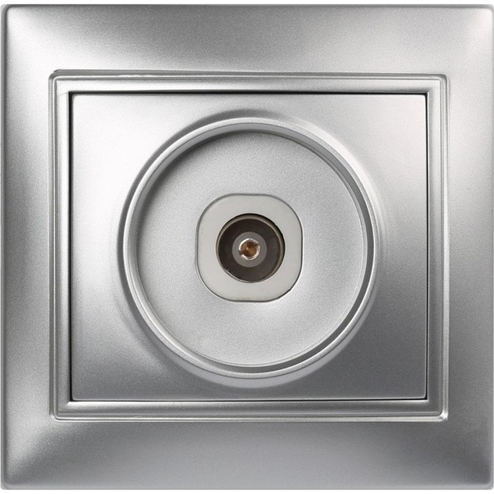 Купить Телевизионная розетка smartbuy 1-местная 75ом 5-862мгц серебро венера sbe-01s-s1-tv