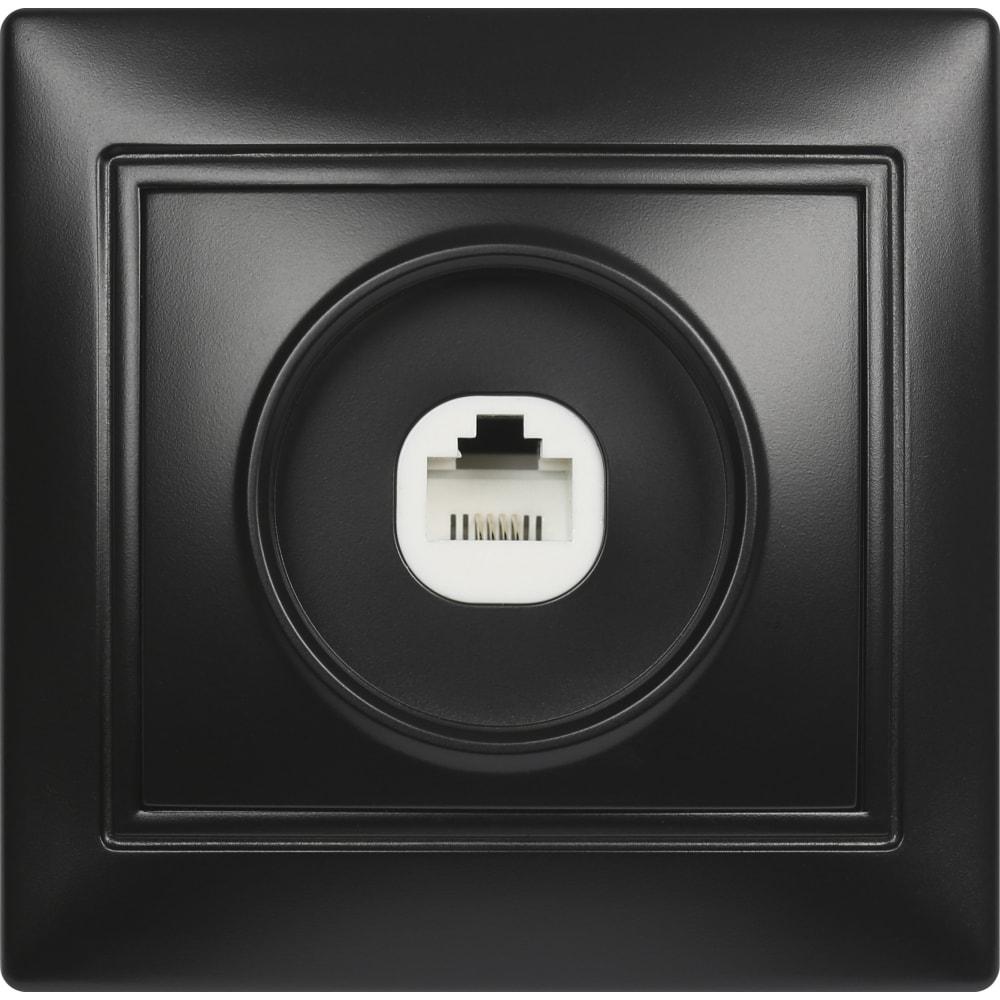 Купить Телефонная розетка smartbuy 1-местная черная венера sbe-01b-s1-ph
