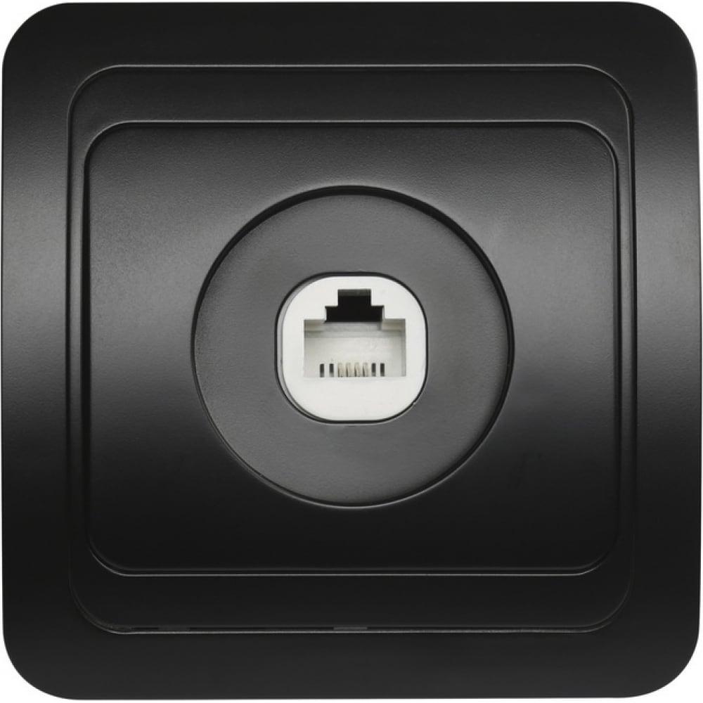 Телефонная розетка smartbuy 1-местная черная марс sbe-02b-s1-ph  - купить со скидкой