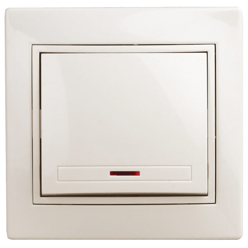 Купить Выключатель с подсветкой intro 110202 10а, 250в, ip20, су, plano, слоновая кость б0027598
