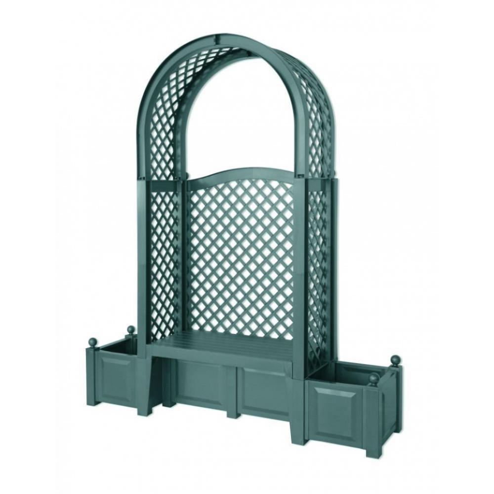 Купить Садовая скамейка khw амстердам, зеленая 43803