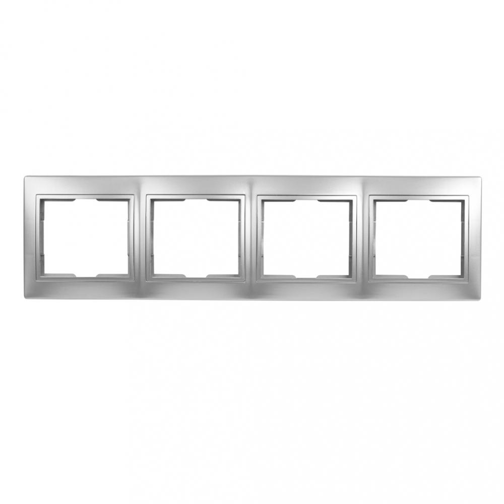 Купить Рамка smartbuy 4-местная горизонтальная серебро венера sbe-01s-00-fr-4
