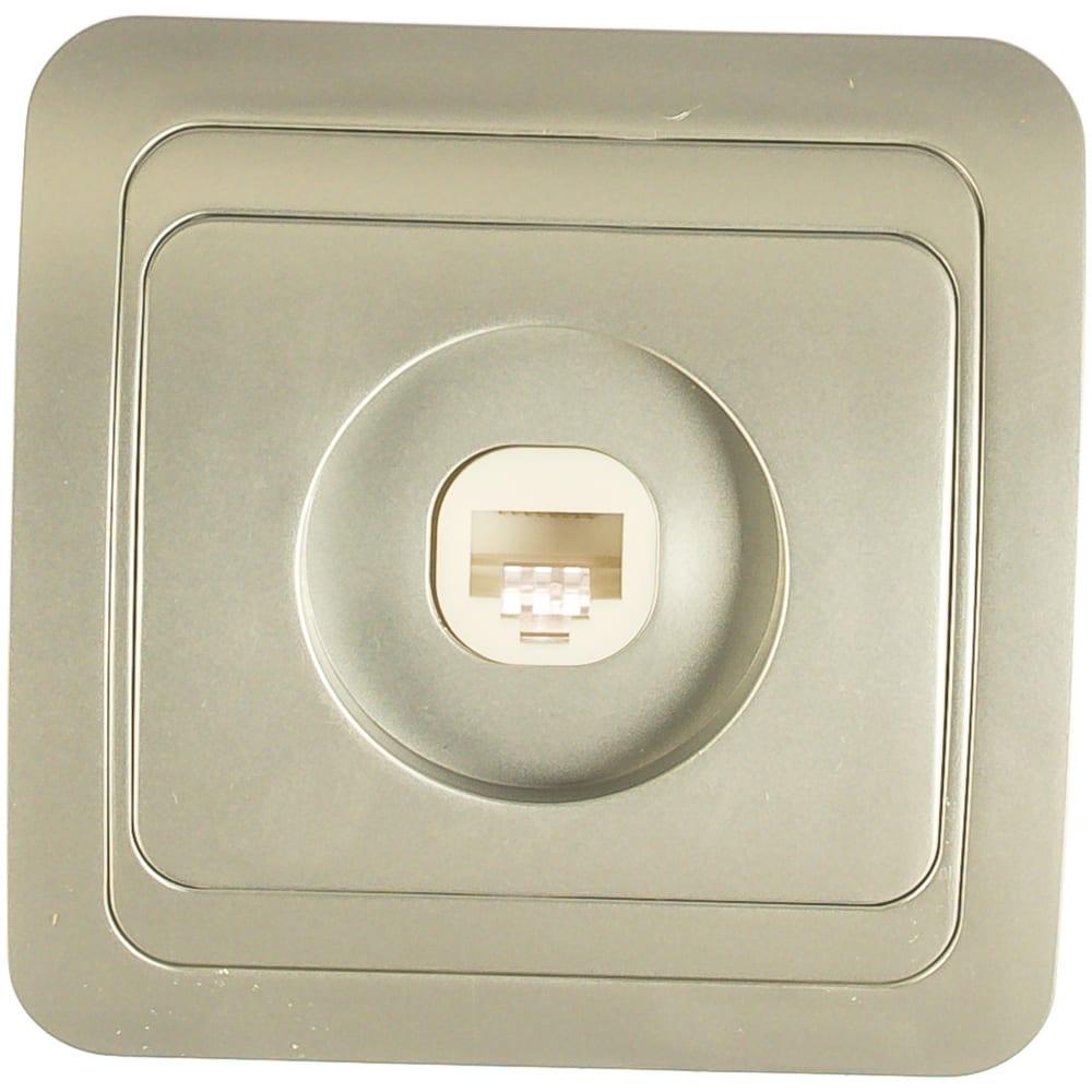 Купить Компьютерная розетка smartbuy rj45 1-местная серебро марс sbe-02s-s1-rj