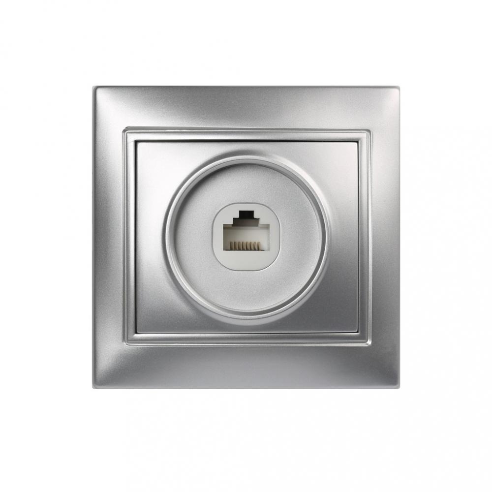 Купить Компьютерная розетка smartbuy rj45 1-местная серебро венера sbe-01s-s1-rj