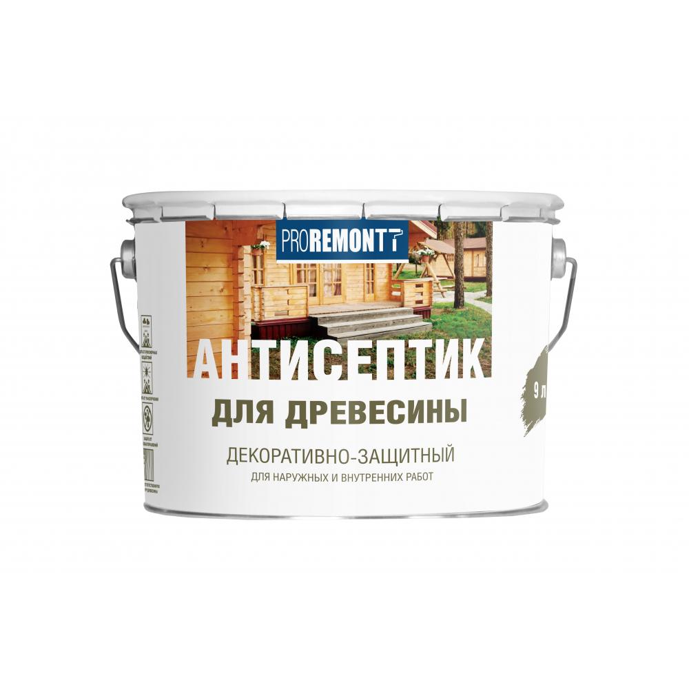 Купить Антисептик proremontt деревозащитное средство орех 9 л лк-00004638