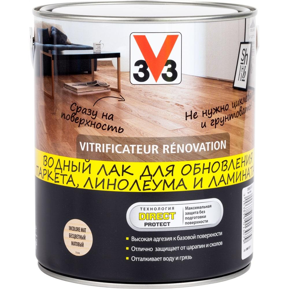 Акриловый лак для пола v33 renovation, мат. 108167