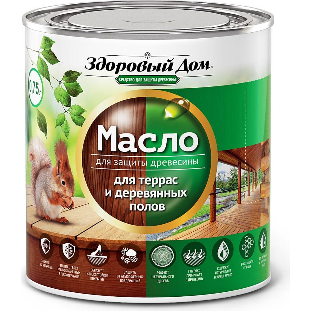 Масло для террас и деревянных полов здоровый