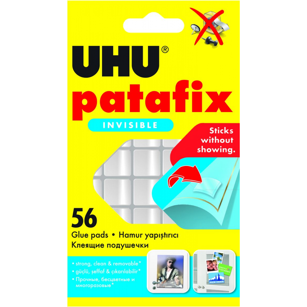 Клеевые подушечки прозрачные patafix 56 шт. uhu 37155