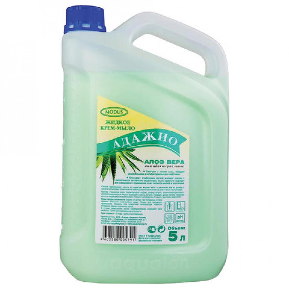 Купить Жидкое антибактериальное мыло-крем адажио 5л, алоэ вера, гост 175791, 605716
