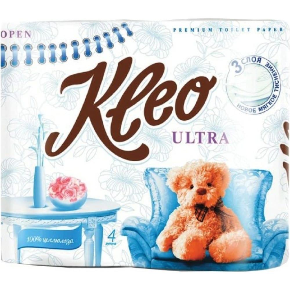 Купить Бытовая туалетная бумага kleo ultra 3-х слойная c86 111333