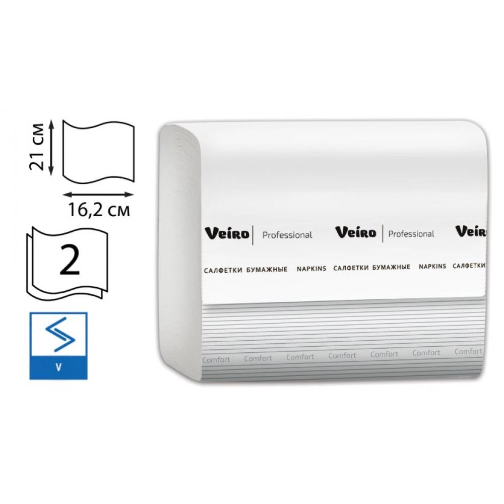 Салфетки veiro professional comfort 220 шт 2-слойные белые 210x162 v nv211  - купить со скидкой