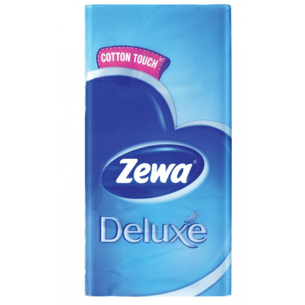 Носовые 3-х слойные платки zewa delux 51174 126255  - купить со скидкой