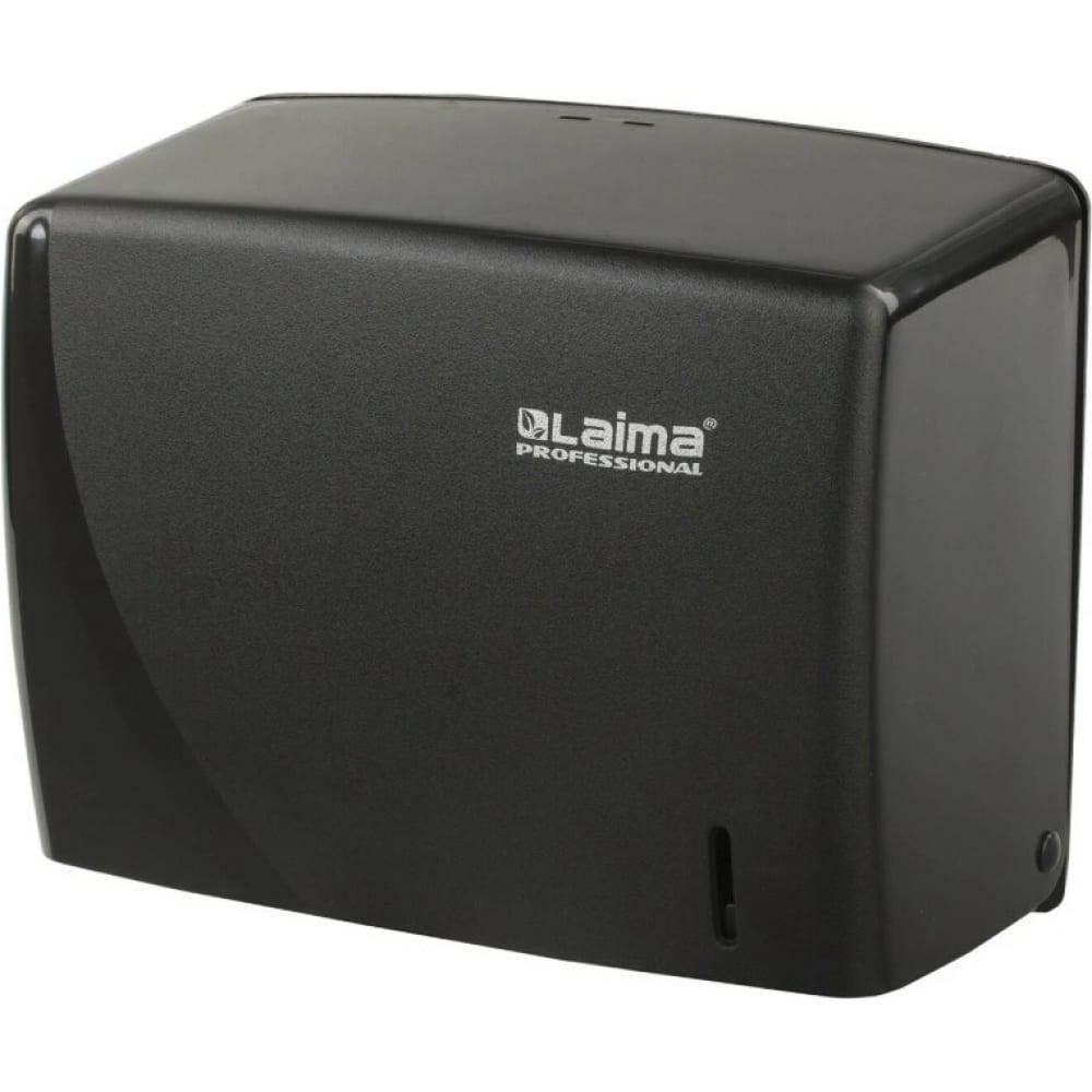 Купить Диспенсер для полотенец лайма professional original, v, черный, abs-пластик 605762