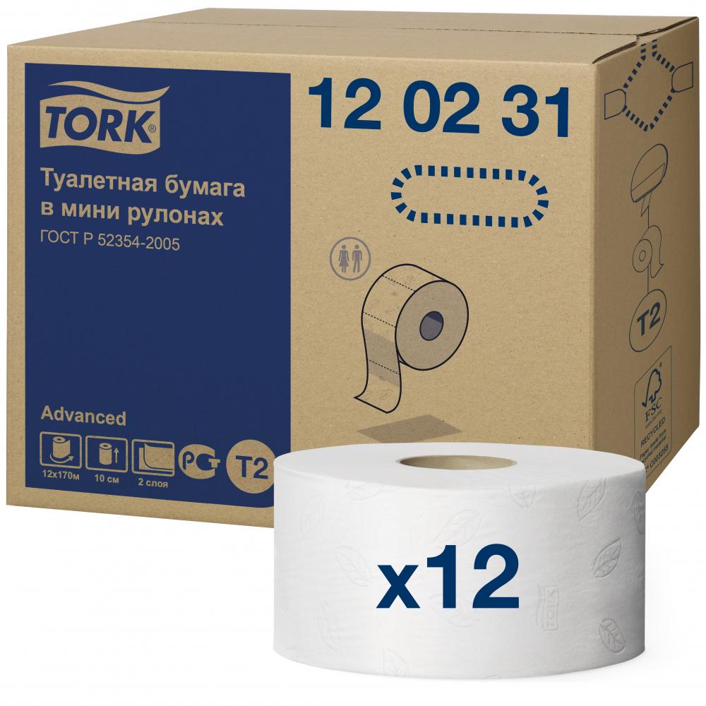 Купить Туалетная бумага tork advanced 170 м 2-слойная белая 120231 126502