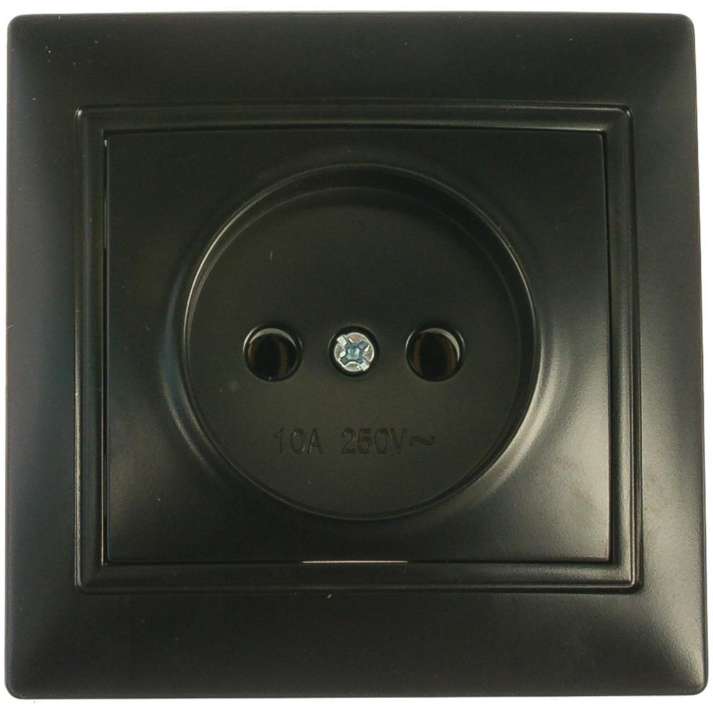 Купить Розетка smartbuy 1-местная без заземления 10а черная, венера sbe-01b-10-s1-n-c