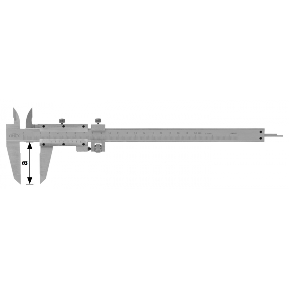 Купить Штангенциркуль kinex 300/55 мм, 0, 02 мм 6003