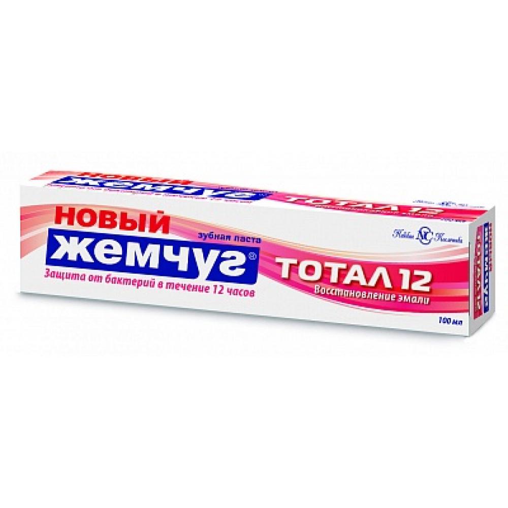 Купить Зубная паста новый жемчуг тотал 12 восстановление эмали 100 мл 28474