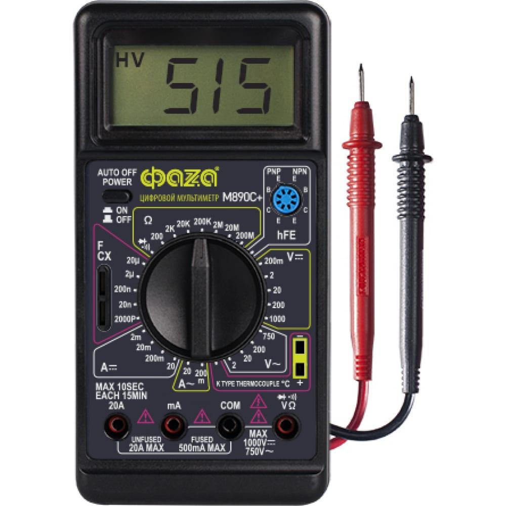 Цифровой мультиметр фаzа m890c+ 5008816