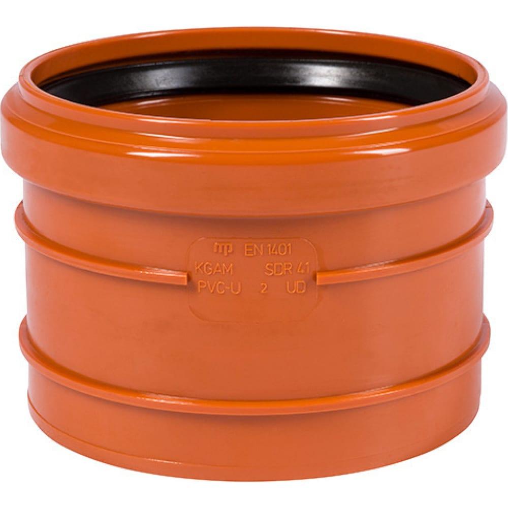 Купить Насадная муфта наружной канализации ostendorf пвх, 110 мм 220810