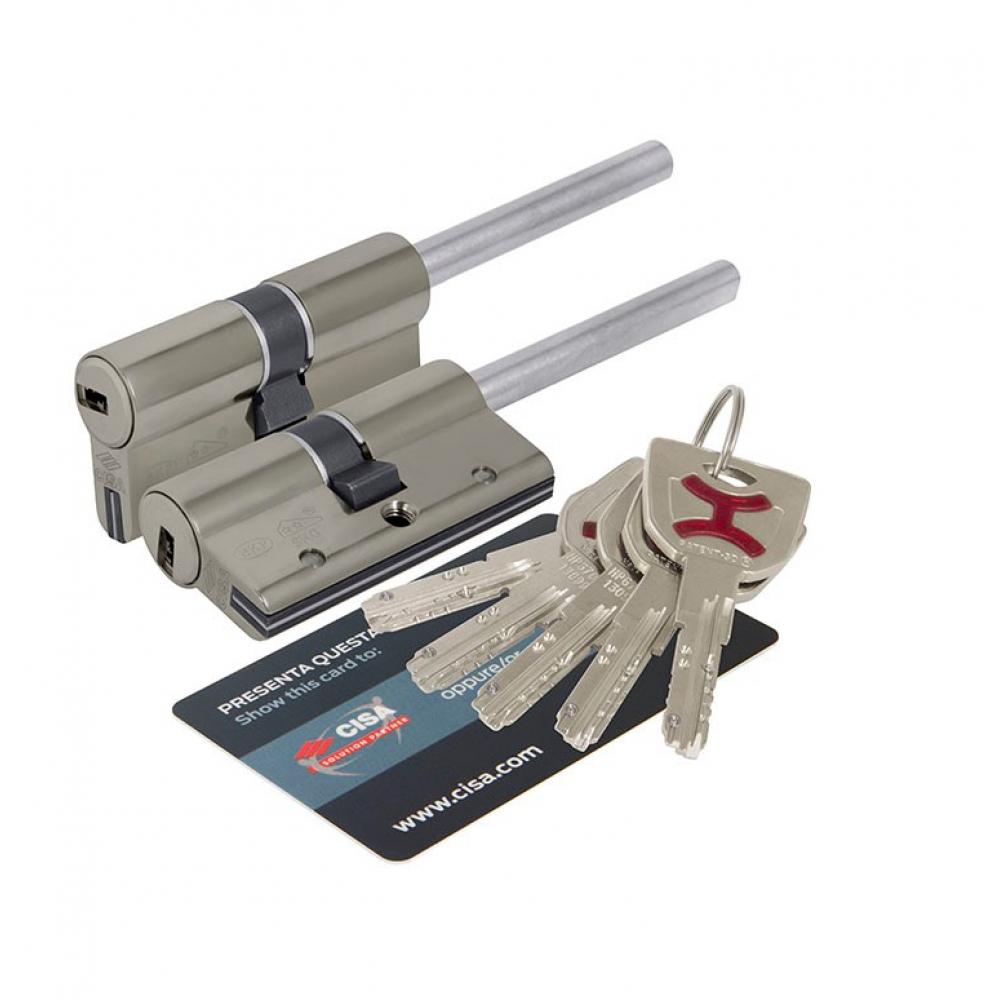 Купить Цилиндровый механизм под вертушку cisa дл. шток ap4s 0p3s7-07.12 60 мм/25+10+25, никель 38411