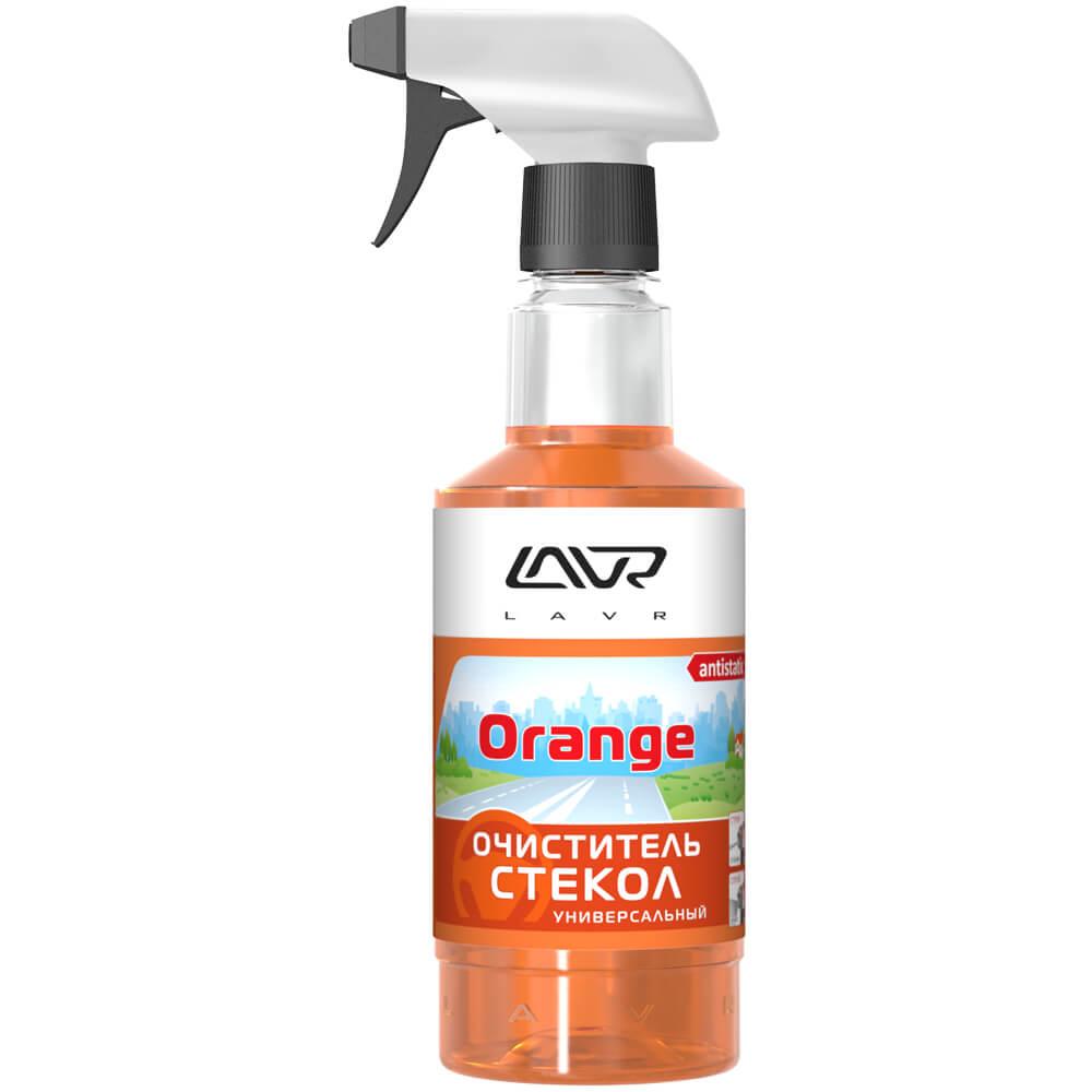 Универсальный очиститель стекол lavr orange с триггером