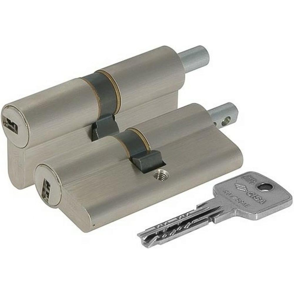 Купить Цилиндровый механизм под вертушку cisa astral оа312-19.12 80 мм/30+10+40, никель 2160