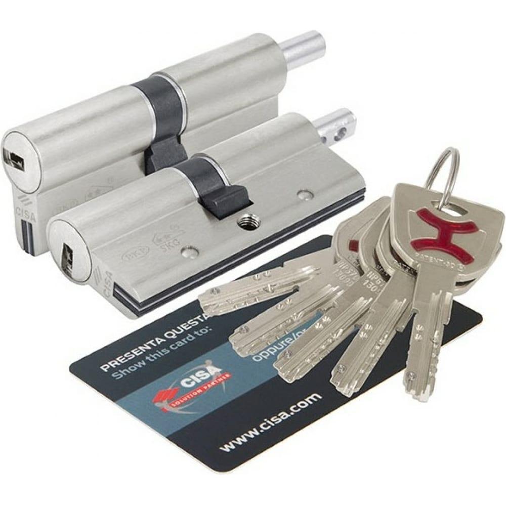Купить Цилиндровый механизм под вертушку cisa ap4s 0p3s2-19.12 80 мм/30+10+40, никель 38301
