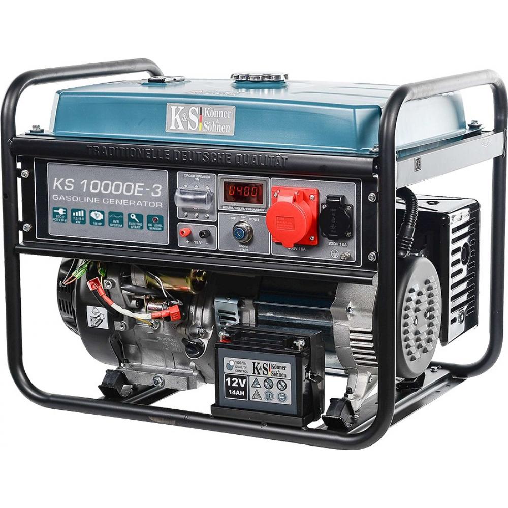 Бензиновый генератор konnersohnen ks 10000e-3.