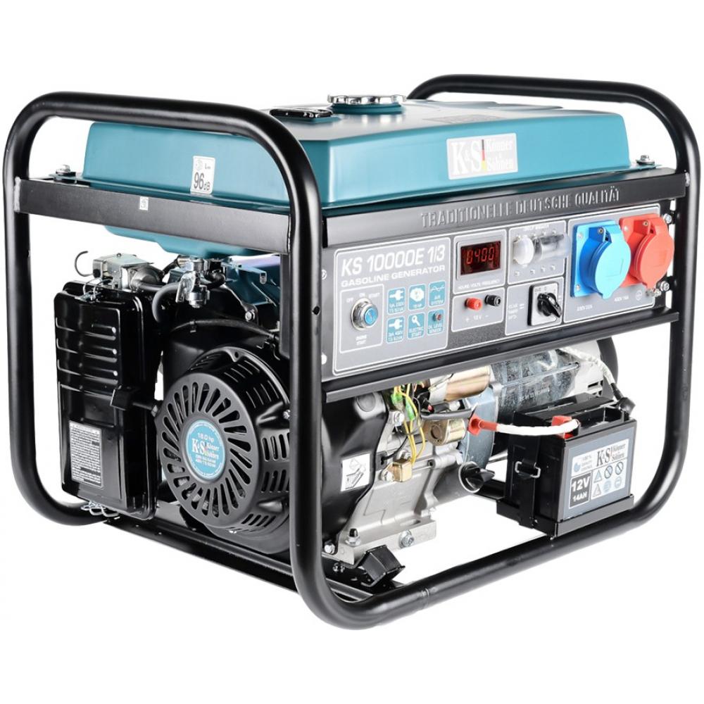 Бензиновый генератор konnersohnen ks 10000e-1/3.