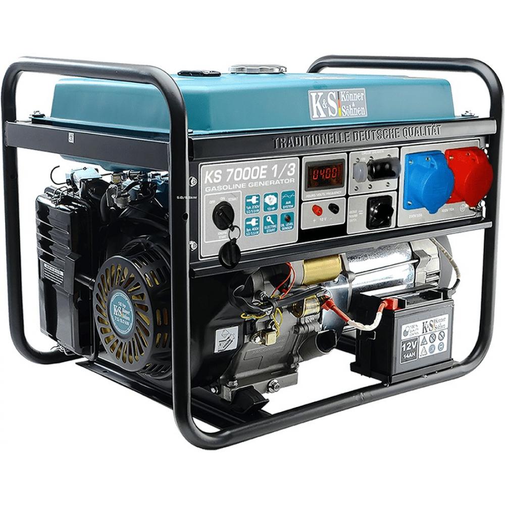 Бензиновый генератор konnersohnen ks 7000e-1/3.