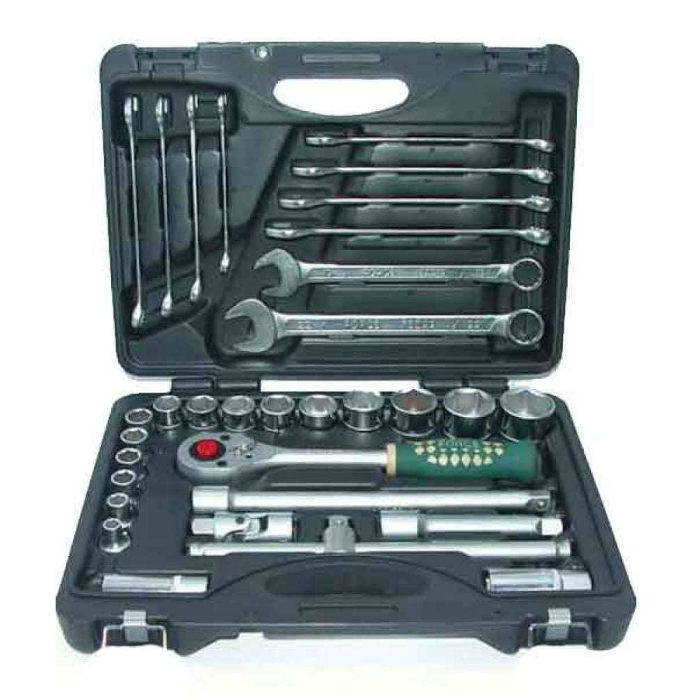Набор инструмента с 12-ти гранными головками 32 предмета force 4324-9