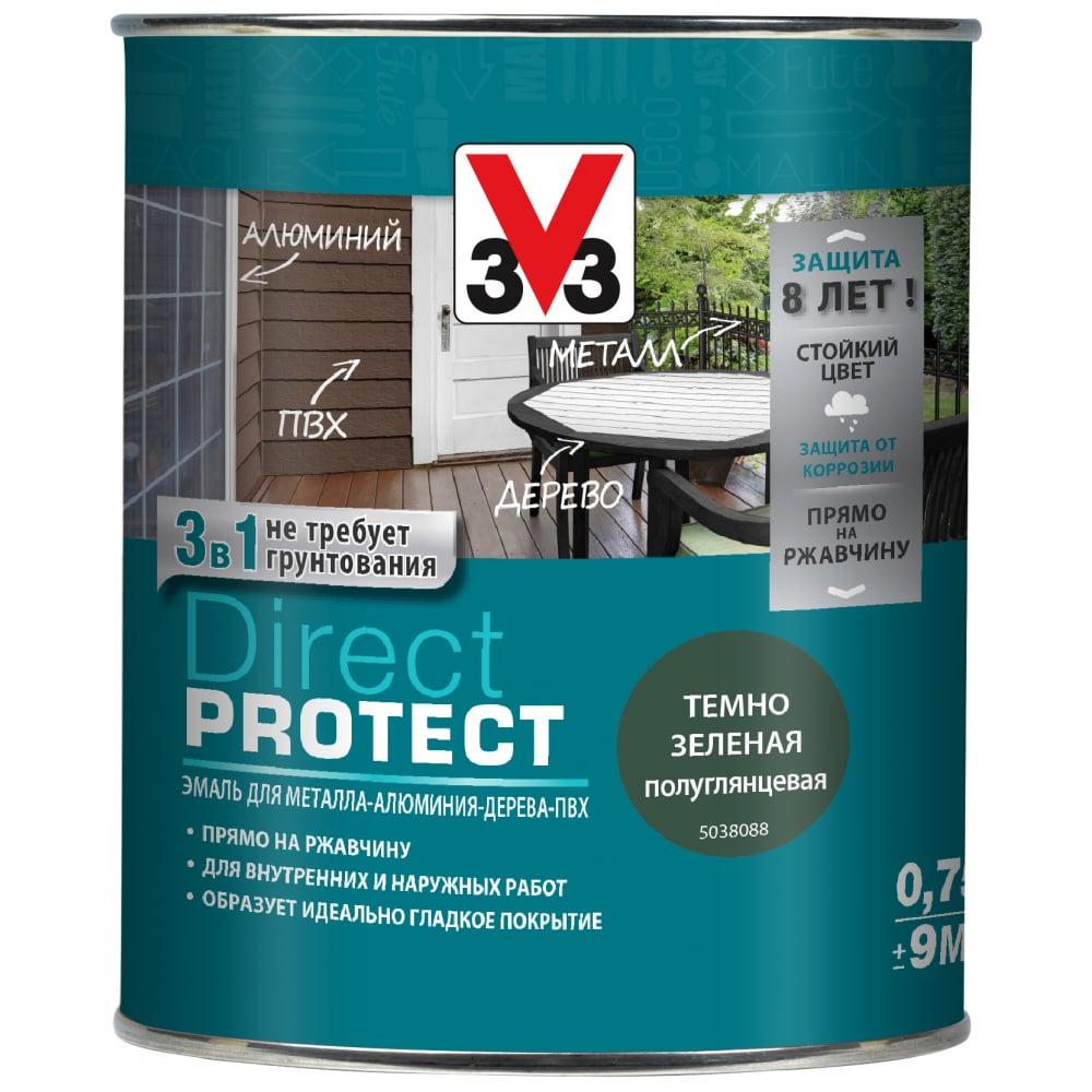 Купить Эмаль v33 direct protect темно-зеленая, 113879