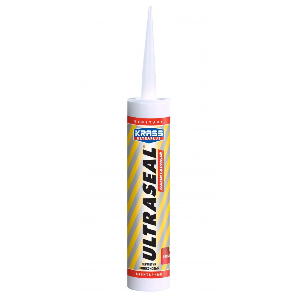 Купить Силиконовый герметик krass ultraseal санитарный белый 260 мл лк-00005054
