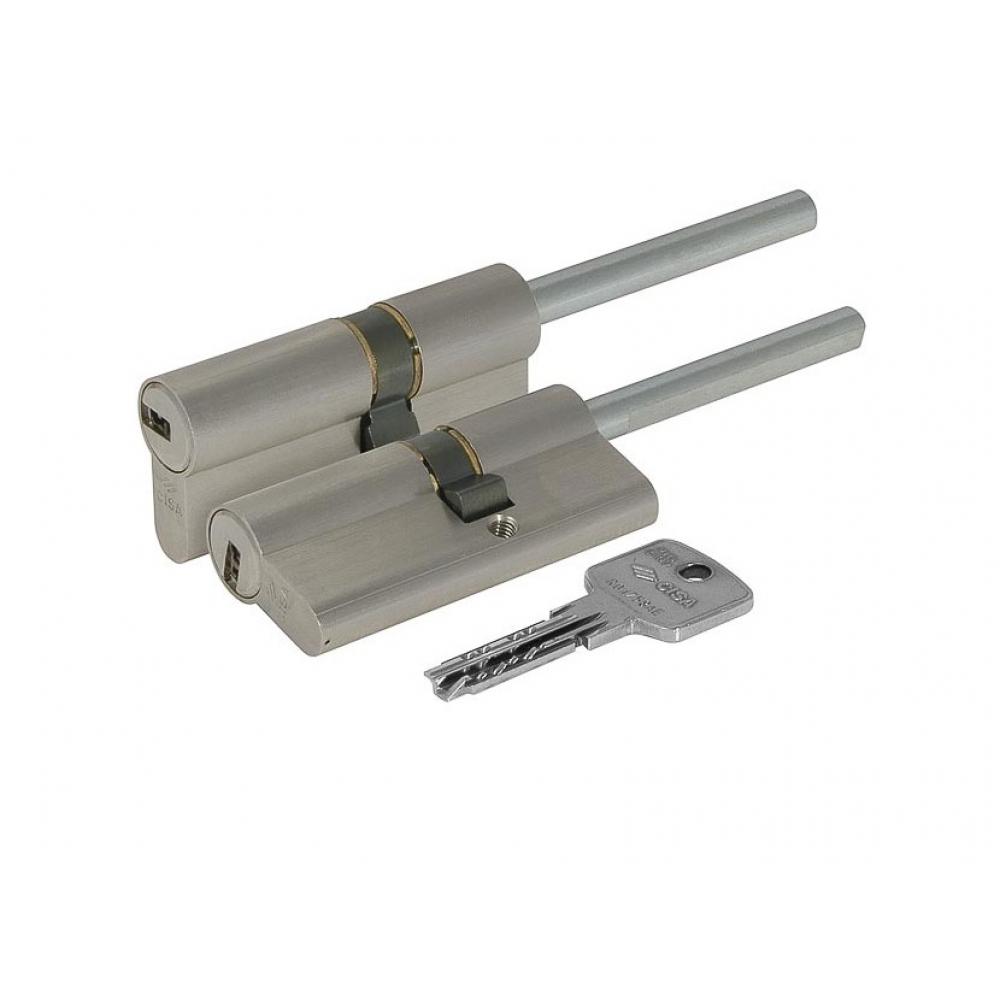 Купить Цилиндровый механизм под вертушку cisa дл. шток astral оа317-87.12 90 мм/55+10+25, никель 8283