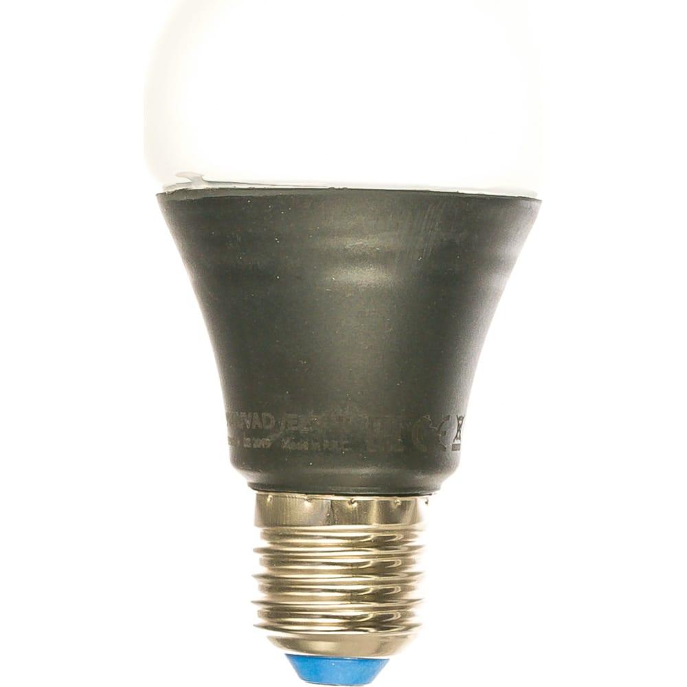Светодиодная ультрафиолетовая лампа uniel led-a60-9w/uvad/e27/fr plz07bk для дискотек ul-00005855