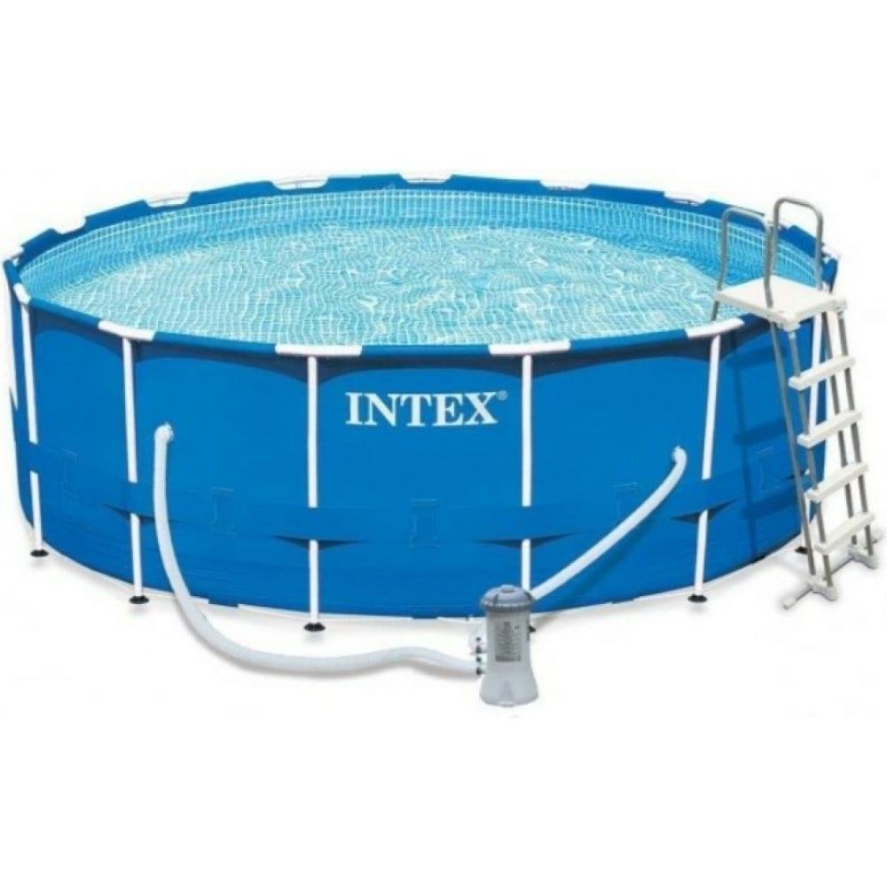 Купить Каркасный бассейн intex metal frame 457х122 см, 16805 л 28242