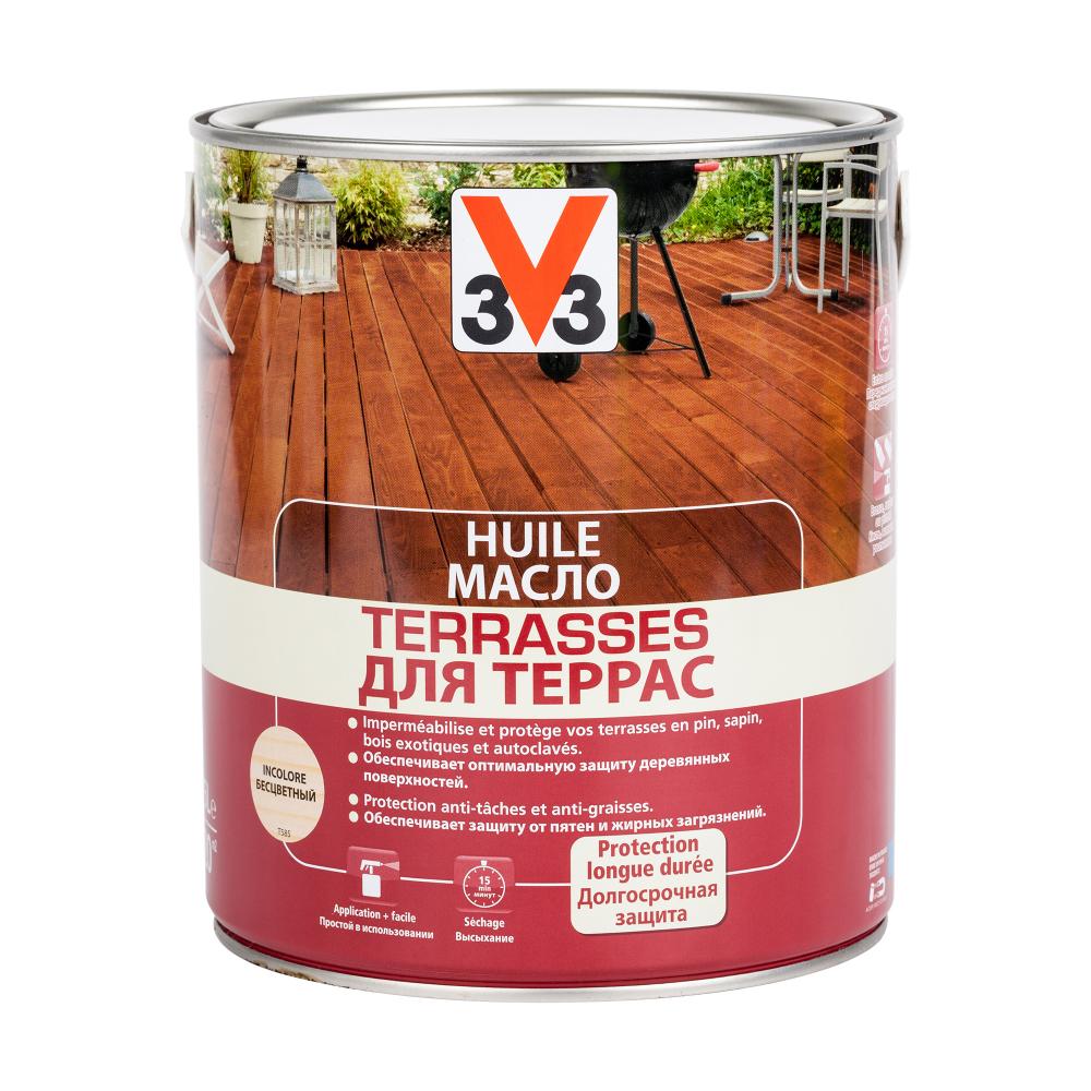Масло для террас v33 бесцветное 102190