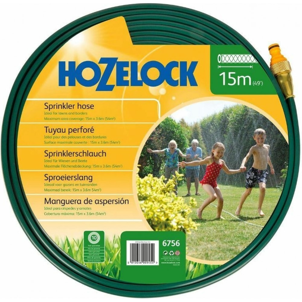 Разбрызгивающийся шланг для полива 15 м с коннекторами hozelock 6756 6756p3600
