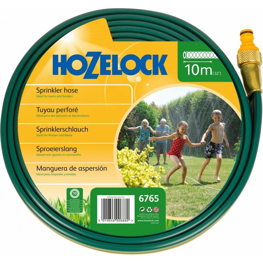 Разбрызгивающийся шланг 10 м для полива с коннекторами hozelock 6765 6765p3600
