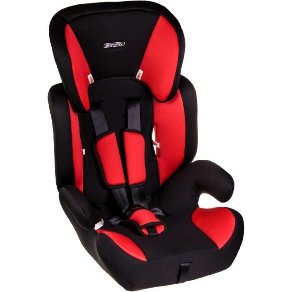 Детское автокресло skyway шалун черно/красное s02801025  - купить со скидкой