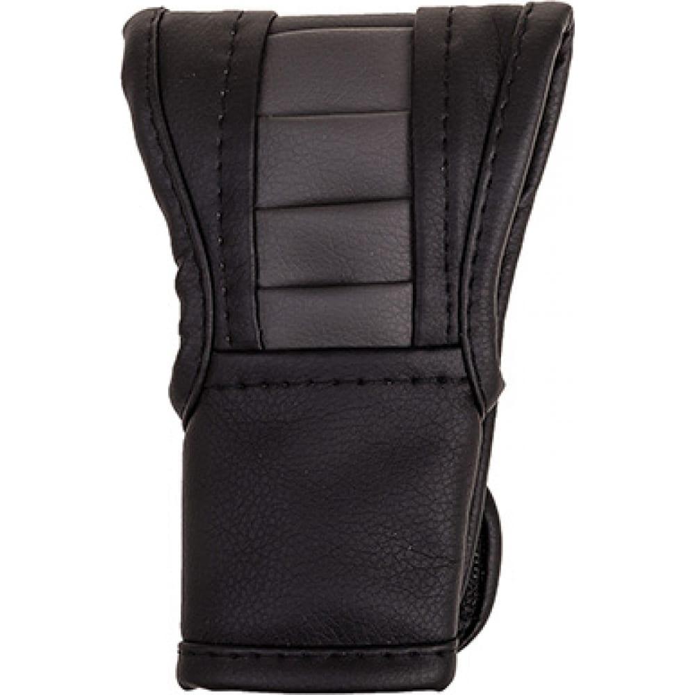 Купить Чехол рычага акпп skyway кожзам, черный/серый s06201016