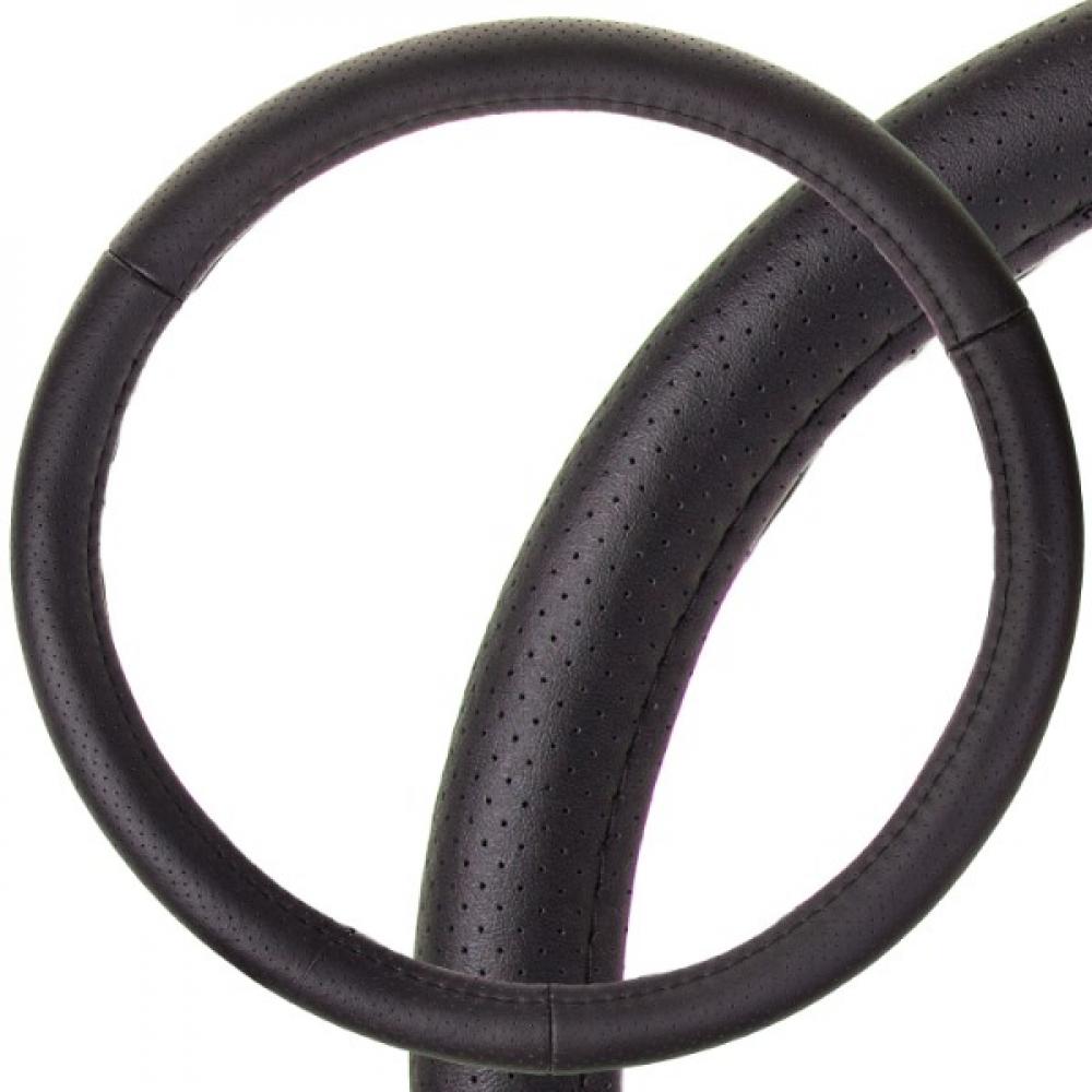 Оплетка skyway real-1 м, черная, натуральная кожа s01108001  - купить со скидкой